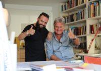Rafatal con Salvador Moreno Peralta en su estudio de Arquitectura