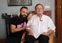 Rafatal con el dramaturgo ąscar Romero